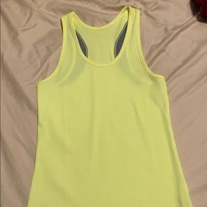 Neon Under Armour workout tank